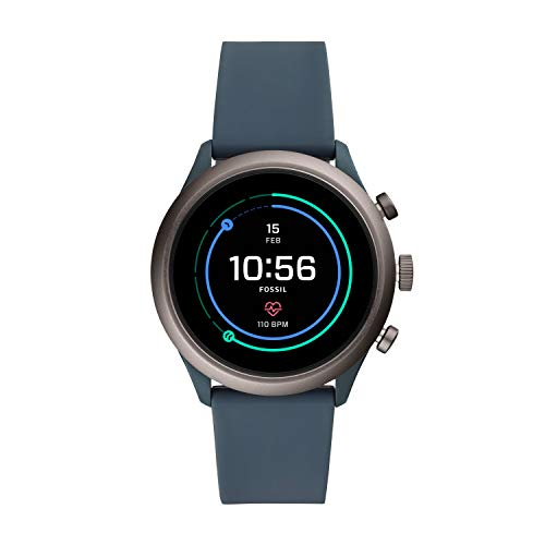 Fossil Mens Sports Smartwatch with Silicone Strap FTW4021