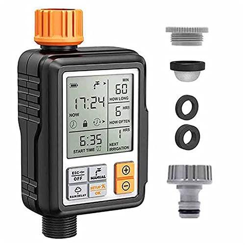 A-YSJ Controlador Temporizador de Agua Digital programable automático 3'Temporizador de riego del Sistema de riego del jardín Grande del jardín (Color : 1 Timer and 1 Head, Size : 6.3x1.97x3.15in)