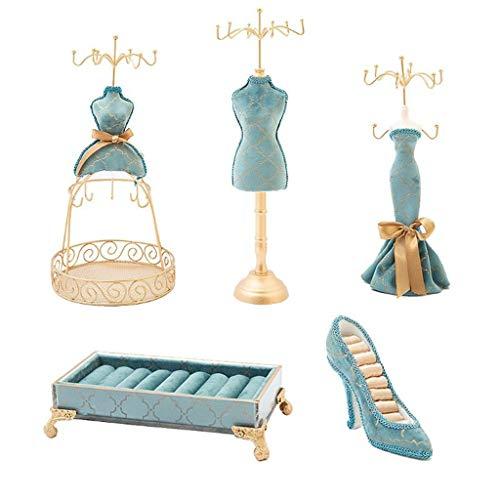 ZHUSHI 5 uds, Estante de Almacenamiento de Joyas Creativo, Soporte de Anillo para Zapatos, Soporte de joyería de Princesa, Vestido, Modelo Humano, Estante de Tacones Altos