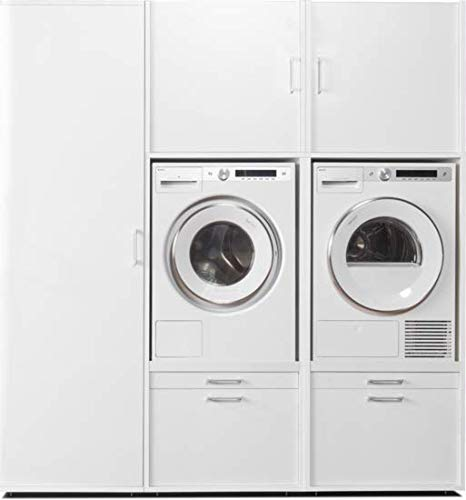 Washtower Combinación pared 2.1 | Combinación práctico para lavadora y secadora