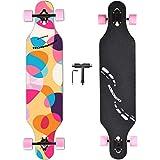 NOBONDO 104 cm Drop Through Longboard Skateboard - komplettes...
