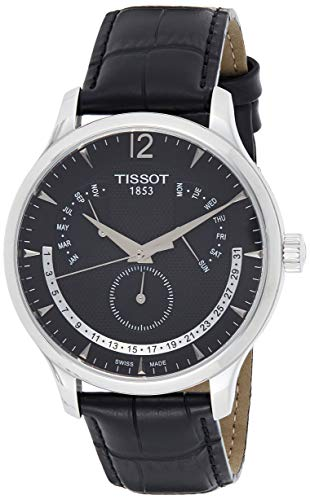 Tissot mens Tissot Tradition stainless-steel Dress Watch Black T0636371605700