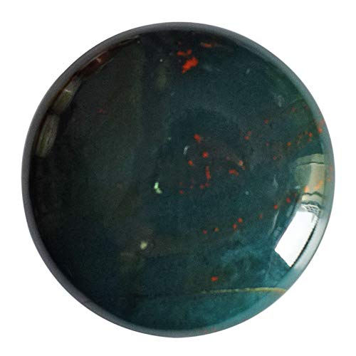 Cabujón redondo natural rojo verde sangre, tamaño 30 x 30 x 6 mm, piedra para joyería colgante, piedra heliotropo AG-12418