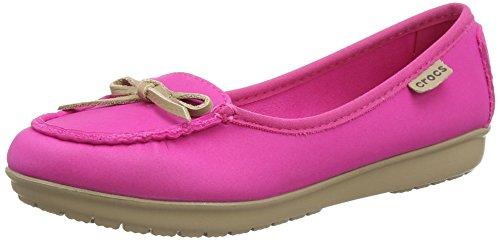 crocs Damen Wrap Colorlite Balle Slipper, Pink (Candy Pink/Tumbleweed), 37-38 EU