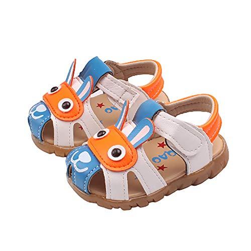 DTZW Sandalias de bebé para bebé, con parte inferior suave, antideslizante, suela suave, de piel sintética (tamaño: 22, color: C)
