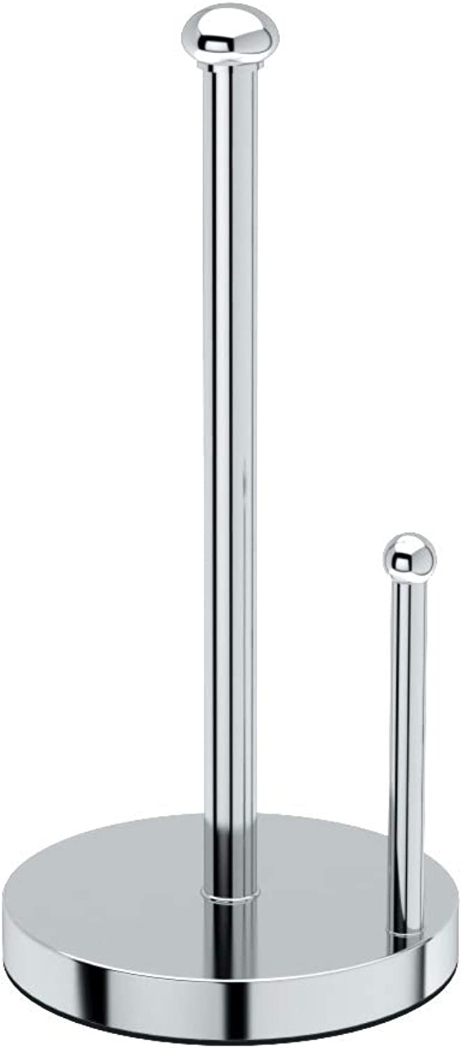 Gatco 1447 Kitchen Paper Towel Stand, Chrome