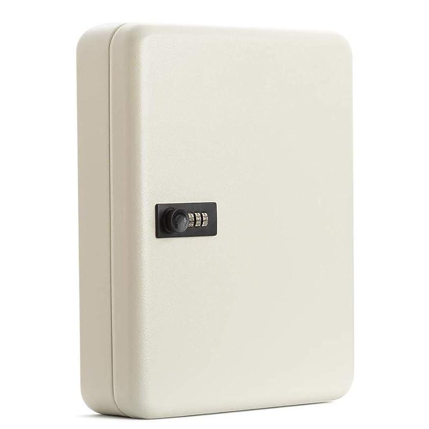 試用うめき声スパークキーボックス キーケース 壁掛け 暗証番号タイプ 鍵収納 オフィス用 家庭用 45本吊 (ホワイト)