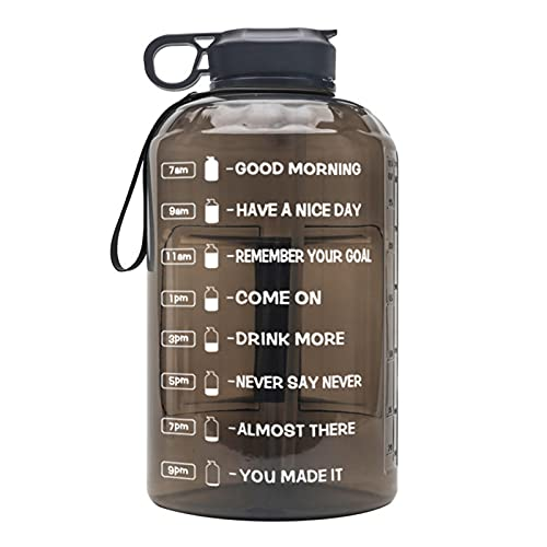 crazerop Botella de agua deportiva grande de 3,78 l, con asa, a prueba de fugas, botella de deporte, botella para gimnasio, entrenamiento, deportes al aire libre, oficina