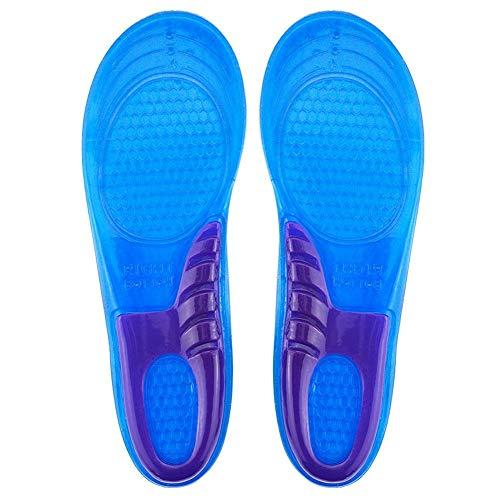 Ducomi ShockGel Einlegesohlen für Herren und Damen, rutschfeste Einlegesohle und Dämpfungsdämpfer - Atmungsaktiv und auszutauschbar - Comfort Massage an den Füßen M: 37-43