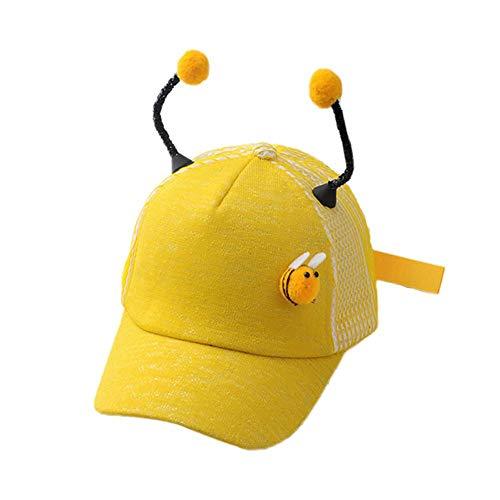 DaoRier Unisex Kinder Sonnenhut Nettes Baby Sommerhut Kinder Biene Baseballmütze für 1-3 Jahre Alte Kinder