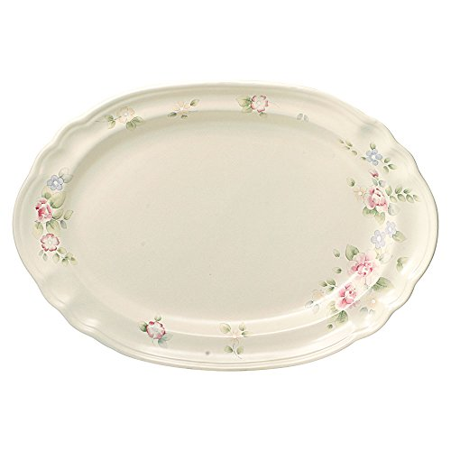 Pfaltzgraff Tea Rose Oval Serving Platter, 14-Inch