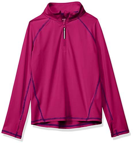 Amazon Essentials Jacke für Mädchen, mit halblangem Reißverschluss, Fuchsia, US S (EU 116 CM)