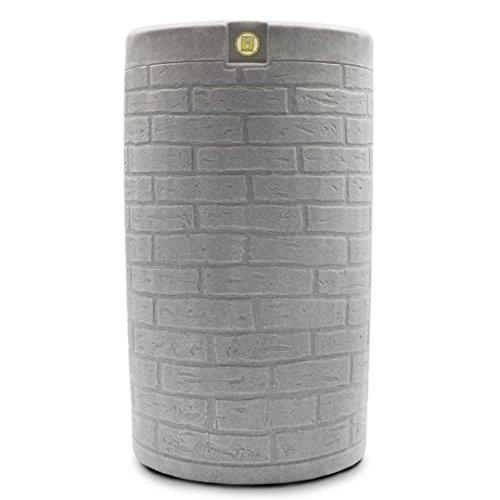 Good Ideas IMP-D50-LIG Impressions Downton Rain Saver Rain Barrel, 50 Gallon, Light Granite