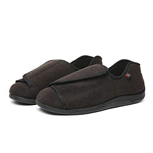 Zapatos ortopédicos quirúrgicos para Mujeres,Zapatos para el Edema de Diabetes,Zapatos Extra Anchos conCierre fácil de Poner y Quitar-Charcoal_37_China,Ajustable de Velcro Zapatos