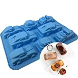 Silicone Cake Pastry Moulds Auto Car Shaped Baking Mold for Soap, Pudding and Biscuit #1