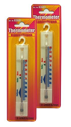 2 x Kühlschrankthermometer, Gefrierfach, Kühlschrank, Gefriertruhe, Thermometer