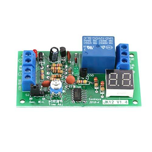 Delay Timer Steuerungsschalter Relaismodul, DC 12V Digital LED Anzeige