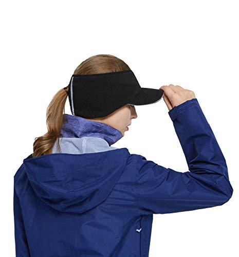 Women Ponytail Fleece Brim Headband, Men Fleece Earflap Hat, Running Ski Windproof Warmer Ear Cover