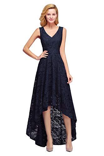 MisShow Brautjungfernkleid Damen Festkleider Elegante Kleid für Jahrestreffen vorn kurz Hintern...