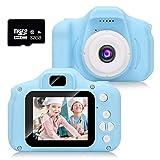 HyAdierTech Kinderkamera, Kinder-Digitalkamera 1080P HD-Video-Digitalkamera mit 2-Zoll-LCD-Bildschirm 32G-Speicherkarte, Jungen und Mädchen Geschenke Spielzeug für 3 bis 13 Jahre alte
