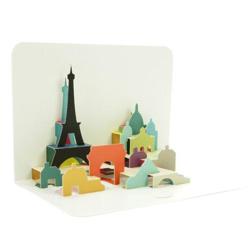 Art File Form PP002 Paris 3D Pop Up Greeting Card Paris einheitsgröße Multicoloured