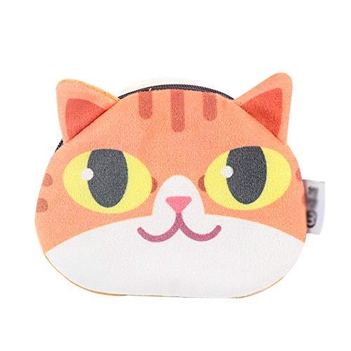 U/K Monedero de franela con diseño de gato para pintalabios, bolso portátil, con cremallera, bolso de mano, tarjetero, llavero, bolsa de almacenamiento, elegante y popular