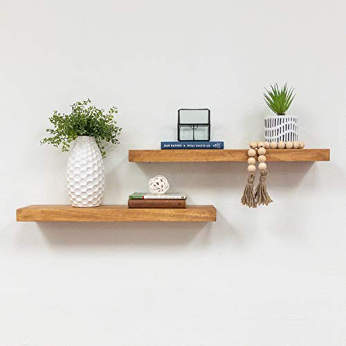 Two 24 inch Floating Shelves (Walnut)