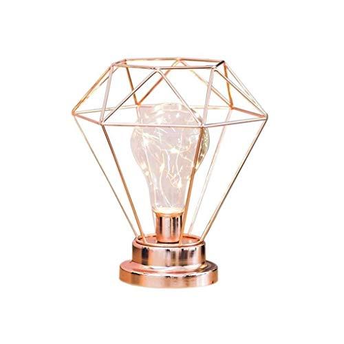 NANYUN tafellamp goud-spherical nachtlamplamp met metalen voet, elegante decoratieve nachtlamp, nachtlampje voor woonkamer, slaapkamer, dresser, kantoor, hal