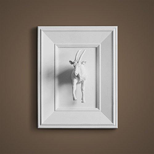 Décoration murale GAOLILI Ameublement Rustique Creative Réaliste Animal 3D Sculpté Cadres (Couleur : E)
