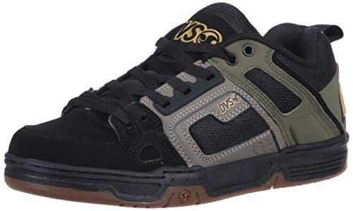 DVS Comanche, Scarpa da Skateboard Uomo, Brindle Burnt Olive Black Leather, 45 EU
