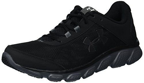 Under Armour Men's Micro G Assert 7 Running Shoe, Black (002)/Rhino Gray, 9.5