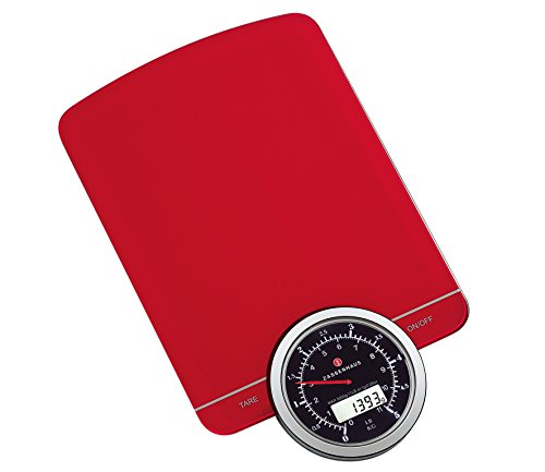 Zassenhaus Speed digitale weegschaal, rood, één maat