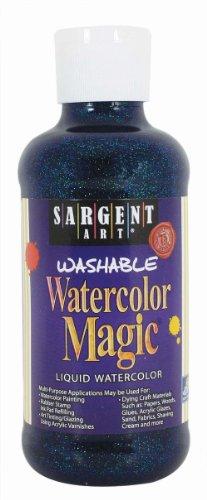 Sargent Art 22-9050 8-Ounce Glitter Watercolor Magic, Blue