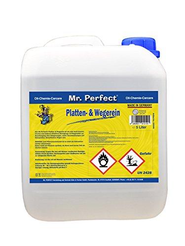 Mr. Perfect® Wegereiniger, 5 Liter - Steinplatten-Reiniger für Industrie & Gewerbe