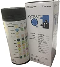 Urinalysis Reagent Strips - 11 Paramater (Pack of 100 Strips) by QTest