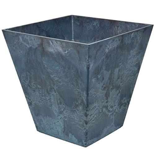 myBoxshop Pot de fleurs de balcon - 40 litres - Design marbre