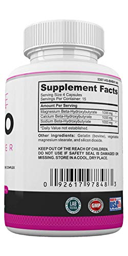 Keto Weight Management Pills for Women- BHB Exogenous Ketones for Energy Boost & Weight Management for Women- Zero Carb Fat Burner for Women - Made in USA - 60 Capsules by LadyMe 2
