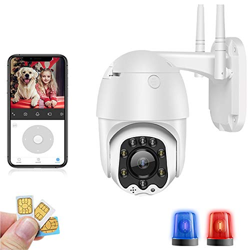 AINSS 3g 4g Camera 1080p HD Ptz Camera Wireless gsm Sim Card WiFi IP Camera Security Cameras Outdoor CCTV P2p IR Night Vision 30m Indoor CAM Baby Monitor Smart IP Pet Ring Monitor 4G Version Add 128G