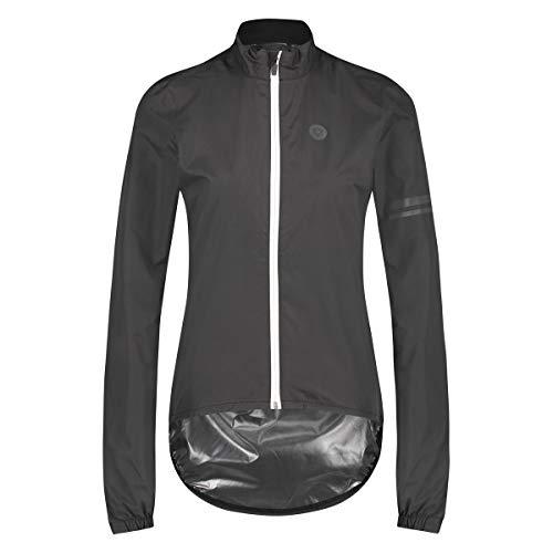 AGU Essential Regenjacke Damen, Fahrradjacke Damen, Wasserdicht & Winddicht, Reflektierend