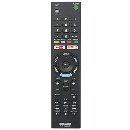 RMT-TX300U Replace Remote Applicable for Sony TV KD-55X720E KD-49X720E KD-43X720E KD-49X700E KD-43X700E KD-55X700E KD-60X690E KD-70X690E KD-65X730F KD-50X690E XBR-49X800E XBR-55X800E XBR-43X800E