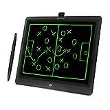 Woxter Smart Pad 150 Black - Pizarra electrónica, Tableta de escritura de 15, Tonalidad Verde, Sensor de presión (10-200g), pila CR2025 (X2), color negro