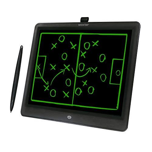 """Woxter Smart Pad 150 Black - Pizarra electrónica, Tableta de escritura de 15"""", Tonalidad Verde, Sensor de presión (10-200g), pila CR2025 (X2), color negro"""