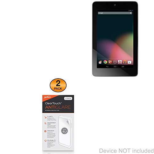 Nexus 7 (1st Gen/2012) Screen Protector, BoxWave [ClearTouch Anti-Glare (2-Pack)] Anti-Fingerprint Matte Film Skin for Google Nexus 7 (1st Gen/2012)