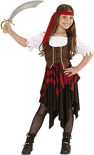 WIDMANN Piratessa Vestito Corsetto Fascia Per Testa Costumi Completo Bambino 717