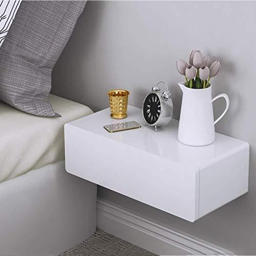 QTDH drijvend rek, wandmontage, met een lade, voor het tentoonstellen van binnenruimtes, boekenkast, nachtkastje, 60 x 28,5 x 13,3 cm