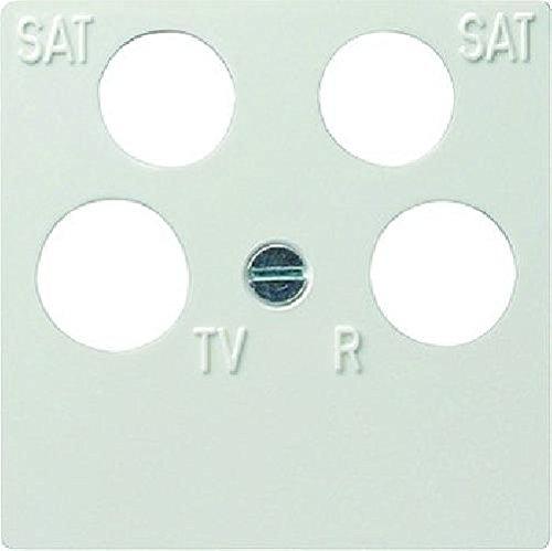 Gira 025903 Zentralplatte 4-fach fuba ECG Astro System 55, reinweiß