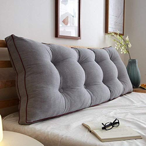 AFQHJ Afneembare Bedside rugkussen, Slaapbank Gestoffeerde kop, Soft Tatami dubbele grote lendensteun kussen (Color : A, Maat: 90x20x50cm)