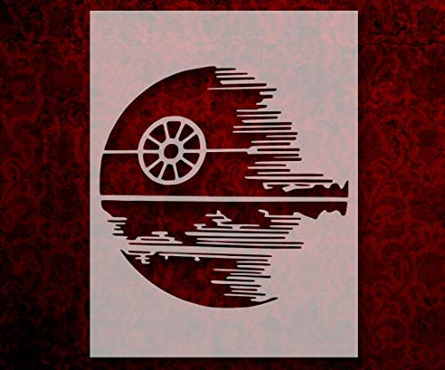 Star Wars Death Star 11' x 8.5' Custom Stencil Arts and Crafts Scrapbooking Painting on The Wall Wood Glass
