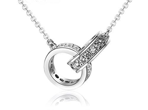 Colgantes Collares Mujer Plata de ley - Infinito Infinity Símbolo Amor Love Encanto - Cadena, Anillo, Amor Love, Regalo del día de San Valentín