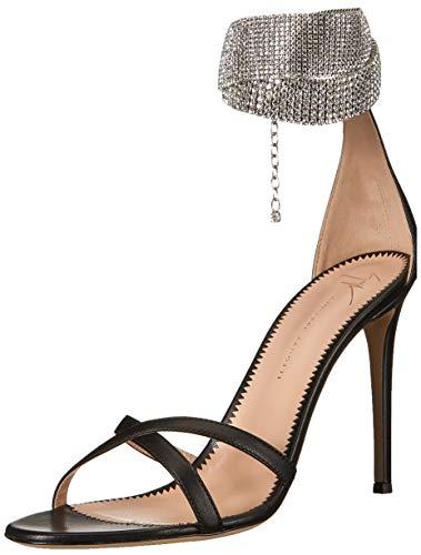 GIUSEPPE ZANOTTI Women's E900149 Heeled Sandal, Nero, 9.5 B US